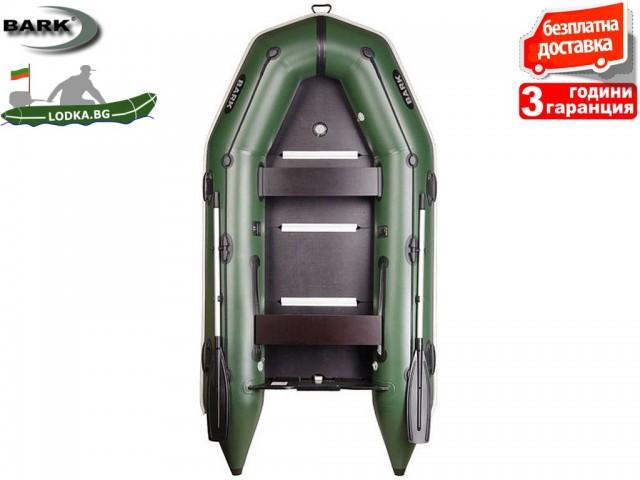 """BARK - Надуваема КИЛОВА ДВУМЕСТНА РИБАРСКА лодка """"BТ-290S"""", Размери: 290x135 cm, Товароносимост: 340 кг, Цвят: Светло сив"""