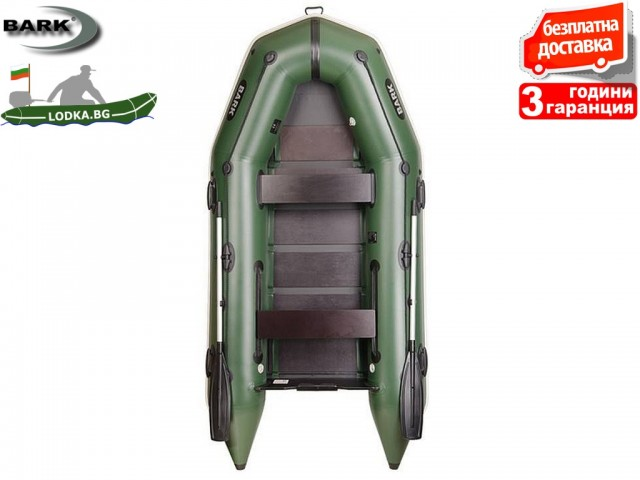 """BARK - Надуваема МОТОРНА ТРИМЕСТНА РИБАРСКА лодка """"BТ-310"""", Размери 310x148 cm, Товароносимост: 320 кг, Цвят: Трикольор"""