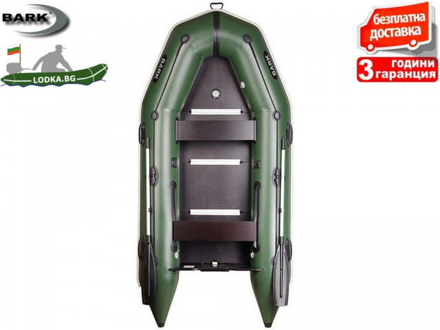 """BARK - Надуваема КИЛОВА ТРИМЕСТНА РИБАРСКА лодка """"BТ-310S"""", Размери 310x146 cm, Товароносимост: 450 кг, Цвят: Трикольор"""