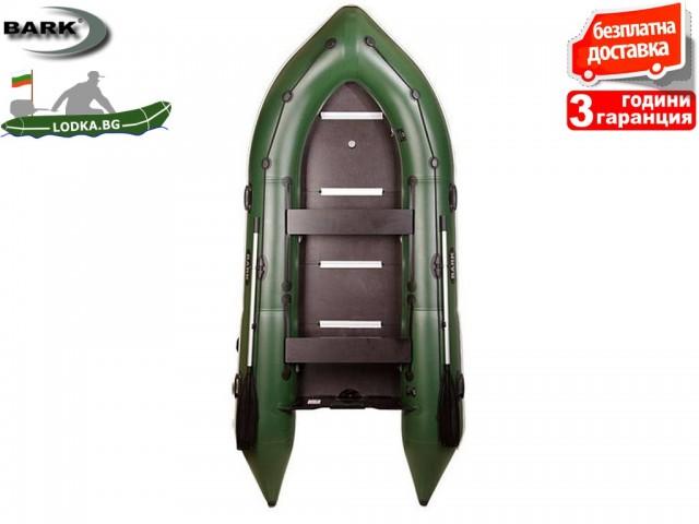 """BARK - Надуваема КИЛОВА ПЕТМЕСТНА РИБАРСКА лодка """"BN-390S"""", Размери: 390x176 cm, Товароносимост: 530 кг, Цвят: Светло сив"""