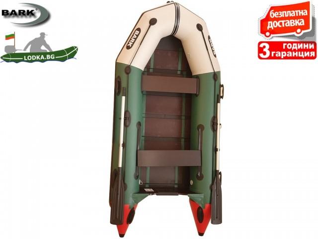 """BARK - Надуваема МОТОРНА ДВУМЕСТНА РИБАРСКА лодка """"BT-270"""", Размери 270x130 cm, Товароносимост: 230 кг, Цвят: Трикольор"""