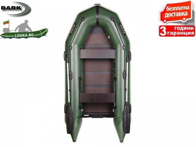 """BARK - Надуваема МОТОРНА ДВУМЕСТНА РИБАРСКА лодка """"BT-290"""", Размери 290x135 cm, Товароносимост: 315 кг, Цвят: Зелен"""