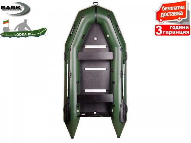 """BARK - Надуваема КИЛОВА ЧЕТИРИМЕСТНА РИБАРСКА лодка """"BT-330S"""", Размери: 330x160 cm, Товароносимост: 500 кг, Цвят: Светло сив"""