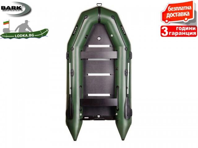 """BARK - Надуваема КИЛОВА ЧЕТИРИ-ШЕСТМЕСТНА РИБАРСКА лодка """"BT-360S"""", Размери: 360x160 cm, Товароносимост: 600 кг, Цвят: Светло сив"""
