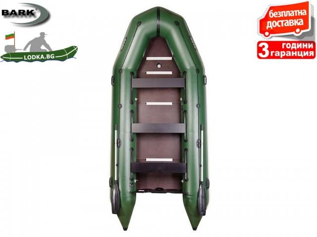 """BARK - Надуваема КИЛОВА ШЕСТМЕСТНА РИБАРСКА лодка """"BT-420S"""", Размери: 420x180 cm, Товароносимост: 740 кг, Цвят: Светло сив"""