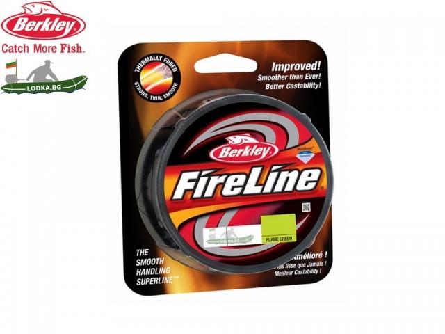 BERKLEY 1308669 - Суперлайн влакно FireLine Flame Green, Дължина: 110 m, Дебелина: 0.39 mm, Ярък и сигнален цвят