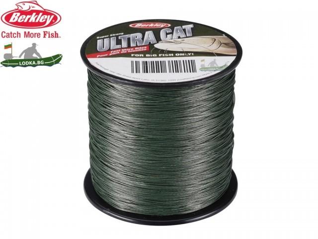 BERKLEY 1152603 - Плетено влакно Ultra Cat Moss Green, Дължина: 270 m, Дебелина: 0.40 mm, Доказано работещ, специален зелен цвят