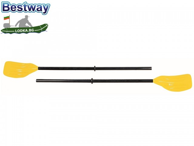 BESTWAY 62015 - Комплект 2 бр. пластмасови гребла за лодка, Дължина: 1.24 m