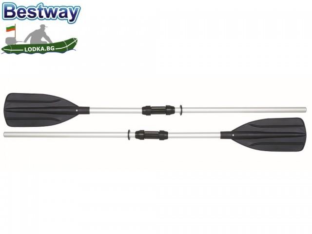 BESTWAY 62064 - Комплект 2 бр. алуминиеви гребла за лодка, Всяко с дължина: 152 cm