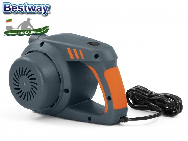 """BESTWAY 62145 - Електрическа помпа """"PowerGrip"""", Работи на 220-240V, 1100 л/мин, Двупосочна - за надуване и изпускане, 3 накрайника"""