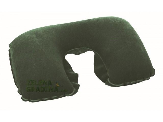 """BESTWAY 67006 - Надуваема възглавничка """"П"""" образна, за пътуване за слагане на врата, Размери: 46x28 cm, Цвят: зелена"""