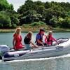 """HONDA T32 IE2  - Надуваема ЧЕТИРИМЕСТНА моторна рибарска лодка с НАДУВАЕМО дъно """"HONWAVE T32 IE2"""" с размери 320x153 cm, Товароносимост: 735 кг, Цвят: светло сива"""
