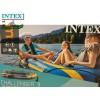 """INTEX 68370NP - Надуваема ТРИМЕСТНА лодка """"CHALLENGER 3"""", Размери: 295 х 137 х 43 cm, Товароносимост: 320 кг, С гребла и помпа в комплекта"""