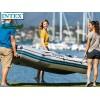 """INTEX 68373NP – Надуваема ТРИМЕСТНА Килова лодка """"MARINER 3"""" с размери 297х127х46 cm, Твърд под, Товароносимост: 300 кг, С алуминиеви гребла и помпа в комплекта"""
