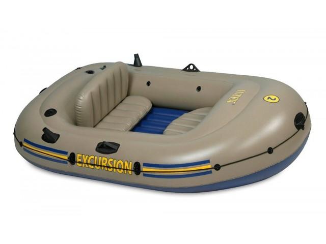 """INTEX 768318 - Надуваема ДВУМЕСТНА лодка за екскурзия """"EXCURSION 2"""" + аксесоари"""