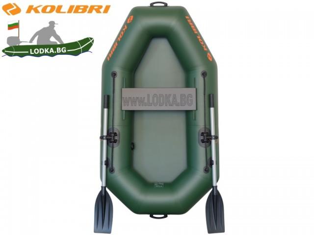 """KOLIBRI - Надуваема ЕДНОМЕСТНА РИБАРСКА лодка """" K-190"""" с размери 190x105 cm, Товароносимост: 100 кг"""