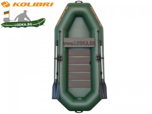 """KOLIBRI - Надуваема ЕДНОМЕСТНА РИБАРСКА лодка """" K-230SC"""" с размери 230x105 cm + оребрено дъно, Товароносимост: 120 кг"""