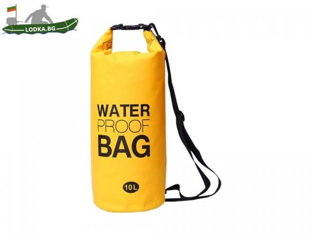 MAX-600532 - Чанта водонепромокаема, Обем: 10 л, Ориентировъчни размери: 29х54 см, С ремък за носене през рамо, Различни цветове