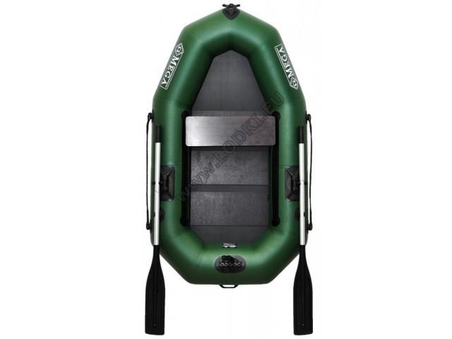 OMEGA - Надуваема ЕДНОМЕСТНА гребна рибарска лодка с оребрено дъно 210 LST PS PRO с размери 210x120cm, Товароносимост: 200 кг, Цвят: светло зелен, стандартен