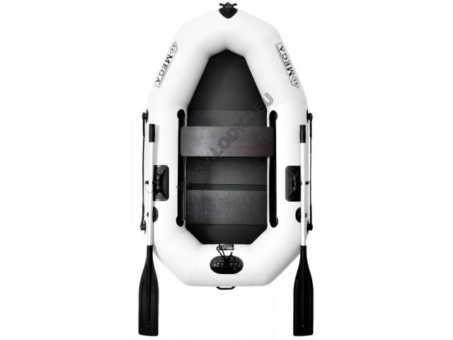 OMEGA - Надуваема ЕДНОМЕСТНА гребна рибарска лодка с оребрено дъно 210 LST PS PRO с размери 210x120cm, Товароносимост: 200 кг, Цвят: светло сив