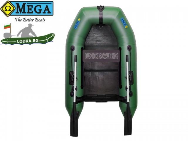 OMEGA - Надуваема ЕДНОМЕСТНА моторна рибарска лодка с оребрено дъно210 M Deluxe RT PT с размери 210x130cm, Товароносимост: 200 кг, Цвят: светло зелен, стандартен