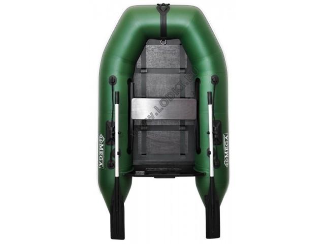 OMEGA - Надуваема ЕДНОМЕСТНА моторна рибарска лодка с оребрено дъно 210 M Standard Edition с размери 210x130cm, Товароносимост: 200 кг, Цвят: светло зелен, стандартен