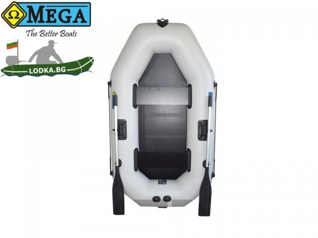 OMEGA - Надуваема ДВУМЕСТНА гребна рибарска лодка с оребрено дъно 220 LST Active с размери 220x125cm, Товароносимост: 210 кг, Цвят:светло сив