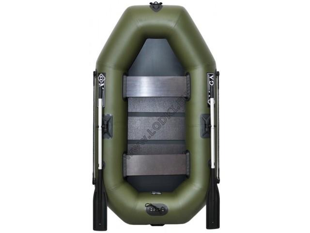 OMEGA - Надуваема ДВУМЕСТНА гребна рибарска лодка с оребрено дъно 220 LST Active с размери 220x125cm, Товароносимост: 210 кг, Цвят: тъмно зелен, хаки