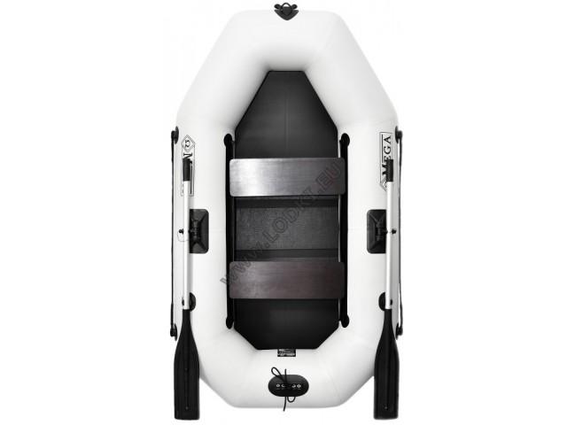 OMEGA - Надуваема ДВУМЕСТНА гребна рибарска лодка с оребрено дъно 220 LST (PS) с размери 220x125cm, Товароносимост: 210 кг, Цвят: светло сив