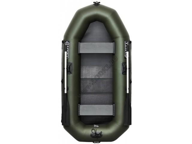 OMEGA - Надуваема ДВУМЕСТНА гребна рибарска лодка с оребрено дъно 245 LST Pro с размери 245x120cm, Товароносимост: 215 кг, Цвят: тъмно зелен, хаки
