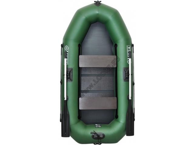 OMEGA - Надуваема ДВУМЕСТНА гребна рибарска лодка с оребрено дъно 245 LST PS Pro с размери 245x120cm, Товароносимост: 215 кг, Цвят: светло зелен, стандартен