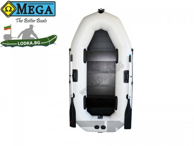 OMEGA - Надуваема ДВУМЕСТНА гребна рибарска лодка с оребрено дъно 245 LST Pro с размери 245x120cm, Товароносимост: 215 кг, Цвят: светло сив