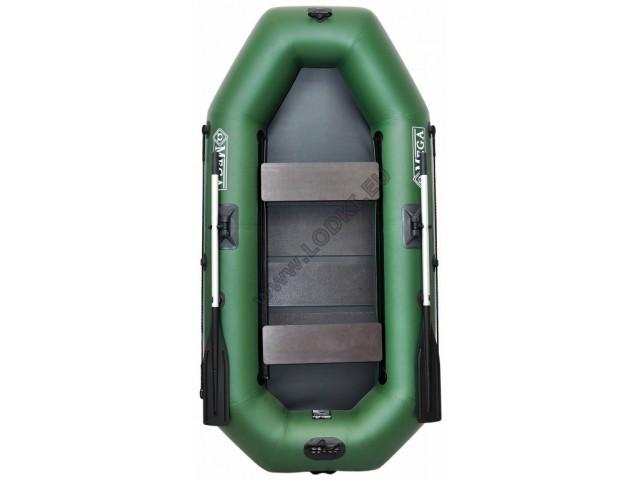 OMEGA - Надуваема ДВУМЕСТНА гребна рибарска лодка с оребрено дъно 250 LST PS Active с размери 249x125cm, Товароносимост: 220 кг, Цвят: светло зелен, стандартен