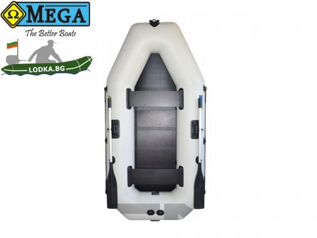 OMEGA - Надуваема ДВУМЕСТНА гребна рибарска лодка с оребрено дъно 260 LST Active Plus с размери 260x130cm, Товароносимост: 230 кг, Цвят: светло сив