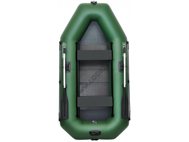 OMEGA - Надуваема ДВУМЕСТНА гребна рибарска лодка с оребрено дъно 260 LST PS Active с размери 260x130cm, Товароносимост: 230 кг, Цвят: светло зелен, стандартен