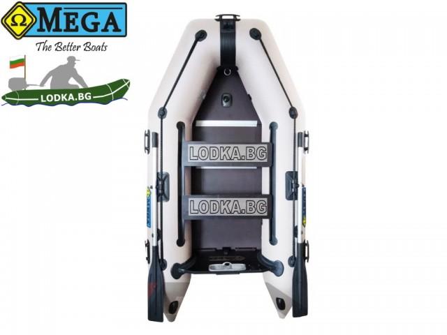 OMEGA - Надуваема ДВУМЕСТНА моторна рибарска лодка с твърдо дъно и надуваем кил 270 K Comfortline PFA RT PT  с размери 270x135cm, Товароносимост: 270 кг, Цвят: светло сив