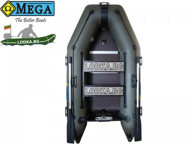 OMEGA - Надуваема ДВУМЕСТНА моторна рибарска лодка с твърдо дъно и надуваем кил 270 K Comfortline PFA RT PT с размери 270x135cm, Товароносимост: 270 кг, Цвят: тъмно зелен, хаки