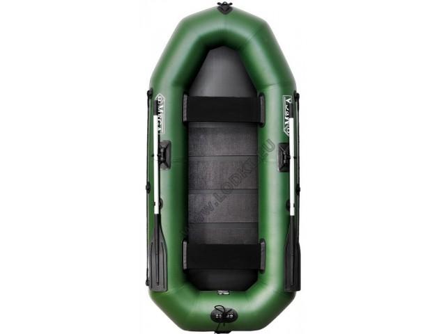 OMEGA - Надуваема ДВУМЕСТНА гребна рибарска лодка с оребрено дъно 270 LSPT Pro Plus с размери 270x120cm, Товароносимост: 270 кг, Цвят: светло зелен, стандартен