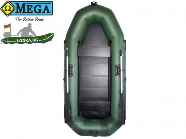 OMEGA - Надуваема ДВУМЕСТНА гребна рибарска лодка с оребрено дъно270 LSPT PS Pro Plus  с размери 270x120cm, Товароносимост: 270 кг, Цвят: светло зелен, стандартен