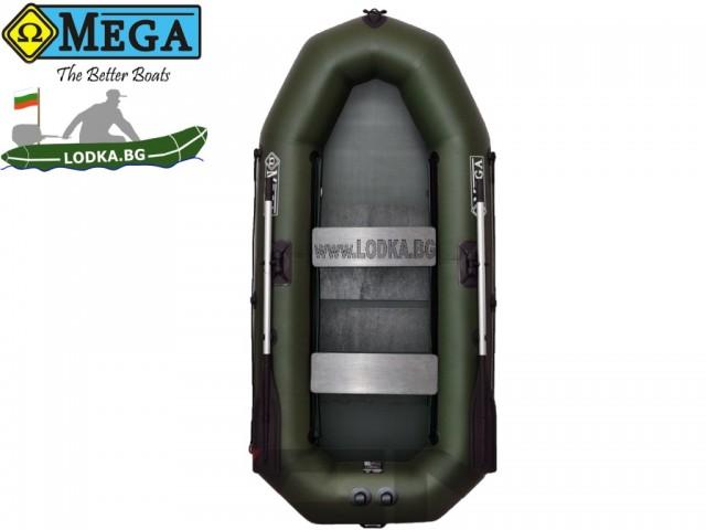 OMEGA - Надуваема ДВУМЕСТНА гребна рибарска лодка с оребрено дъно 270 LST PS Pro с размери 270x120cm, Товароносимост: 270 кг, Цвят: тъмно зелен, хаки