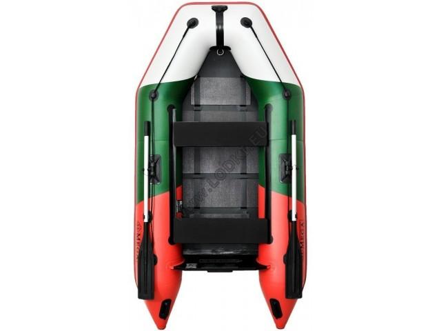 OMEGA - Надуваема ДВУМЕСТНА моторна рибарска лодка с оребрено дъно 270 M Limited Edition, с размери 270x135cm, Товароносимост: 270 кг, Цвят: българското знаме