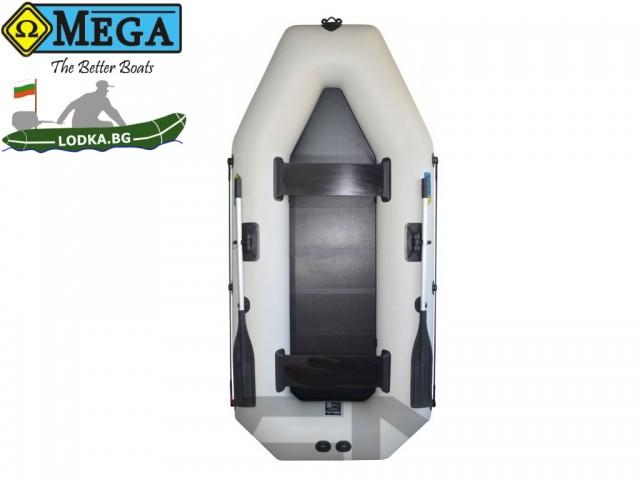 OMEGA - Надуваема ДВУМЕСТНА гребна рибарска лодка с оребрено дъно 280 LST Active с размери 280x130cm, Товароносимост: 300 кг, Цвят: светло сив
