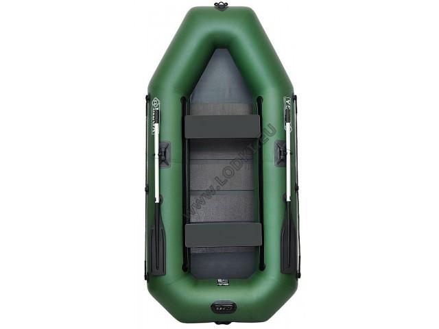 OMEGA - Надуваема ДВУМЕСТНА гребна рибарска лодка с оребрено дъно 280 LST PS Active с размери 280x130cm, Товароносимост: 300 кг, Цвят: светло зелен, стандартен