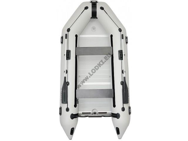 OMEGA - Надуваема ТРИМЕСТНА моторна рибарска лодка с твърдо АЛУМИНИЕВО дъно и надуваем кил 300 K Evolution ALF RT PT с размери 300x150cm, Товароносимост: 400 кг, Цвят: светло сив