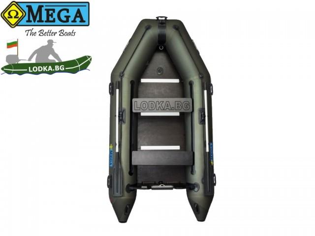 OMEGA - Надуваема ТРИМЕСТНА моторна рибарска лодка с твърдо дъно и надуваем кил 300 K Comfortline PFA RT PT с размери 300x150cm, Товароносимост: 400 кг, Цвят: тъмно зелен, хаки