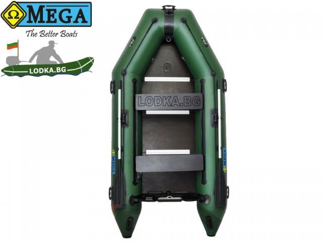 OMEGA - Надуваема ТРИМЕСТНА моторна рибарска лодка с твърдо дъно и надуваем кил 300 K Comfortline PFA RT PT с размери 300x150cm, Товароносимост: 400 кг, Цвят: светло зелен, стандартен