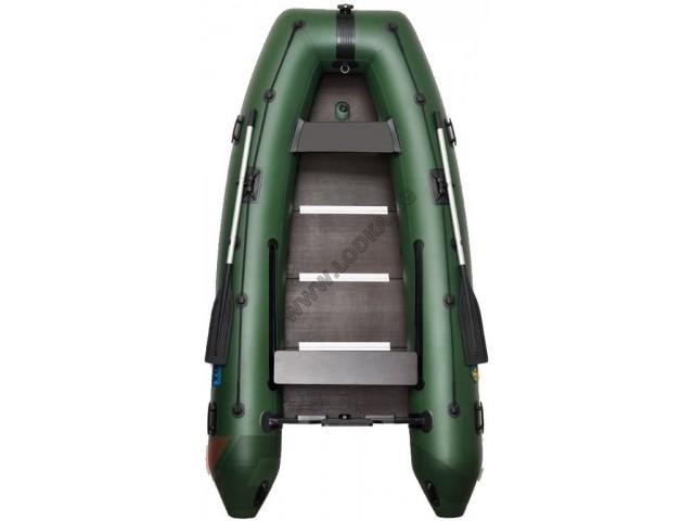 OMEGA - Надуваема ЧЕТИРИМЕСТНА моторна рибарска лодка с твърдо дъно и надуваем кил 330 KU Comfortline PFA RT PT с размери 330x160cm, Товароносимост: 430 кг, Цвят: светло зелен, стандартен