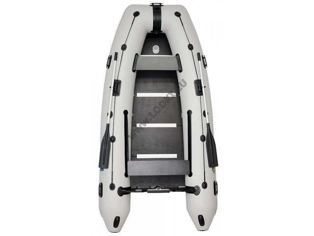 OMEGA - Надуваема ЧЕТИРИМЕСТНА моторна рибарска лодка с твърдо дъно и надуваем кил310 KU Comfortline PFA RT PT с размери 310x160cm, Товароносимост: 430 кг, Цвят: светло сив