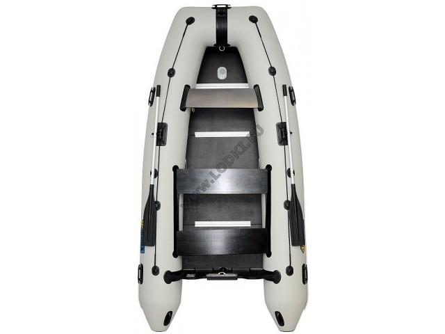 OMEGA - Надуваема ЧЕТИРИМЕСТНА моторна рибарска лодка с твърдо дъно и надуваем кил 340 KU Comfortline PFA RT PT с размери 340x170cm, Товароносимост: 550 кг, Цвят: светло сив