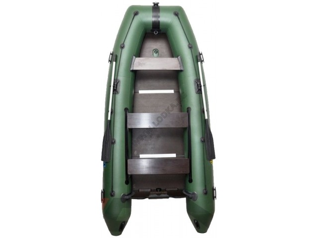 OMEGA - Надуваема ПЕТМЕСТНА моторна рибарска лодка с твърдо дъно и надуваем кил 360 KU (PFA) с размери 360x170cm, Товароносимост: 600 кг, Цвят: светло зелен, стандартен